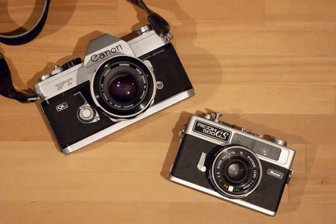 Canon FT と RICOH 500GS